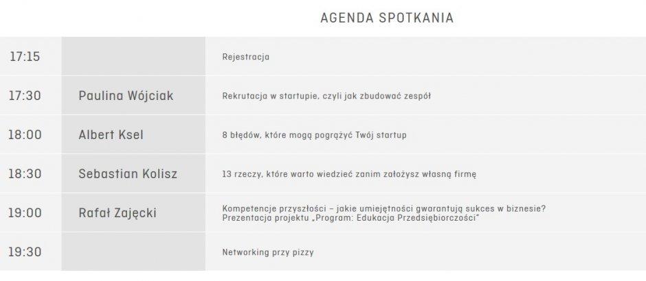 agenda TK