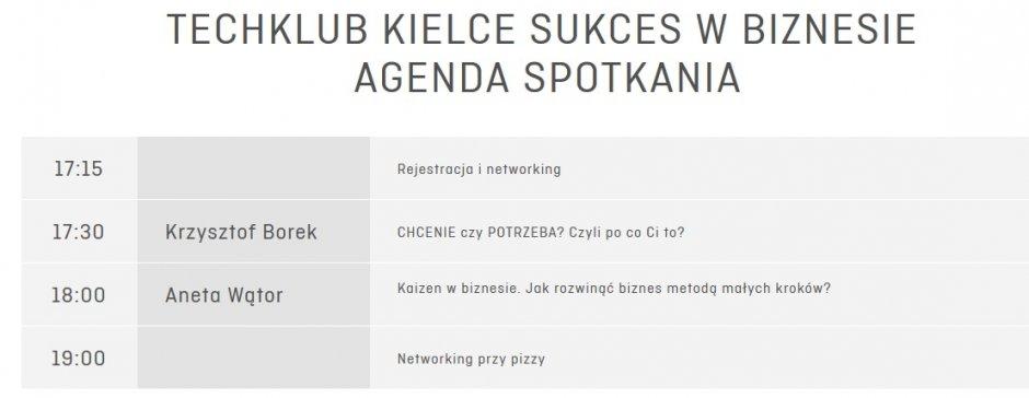 TechKlub Agenda